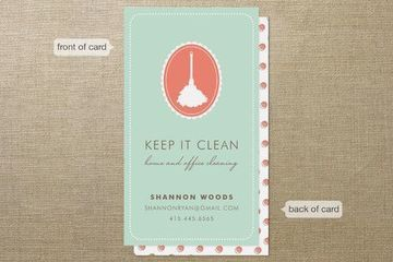 las tarjetas de presentacion de limpieza que quieres mostrar