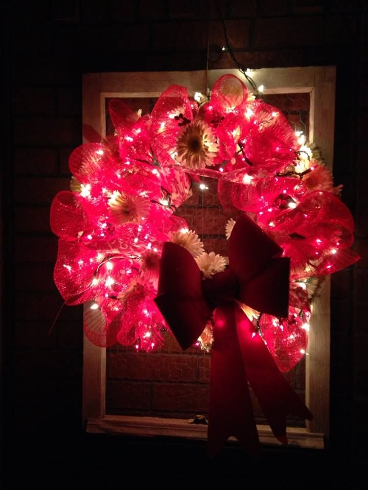 Took the red and white christmas decor and turned it to Valentine