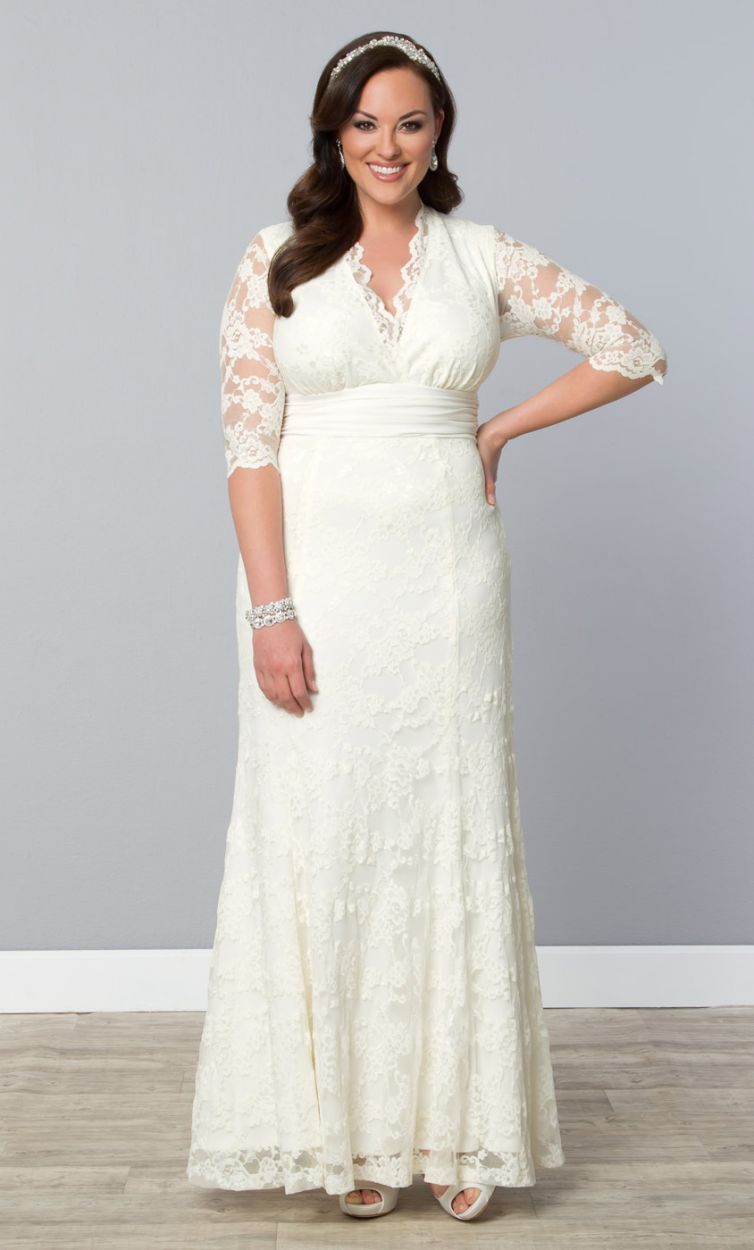 Budget friendly plus size wedding gowns budgeting gowns for Lace wedding dresses plus size