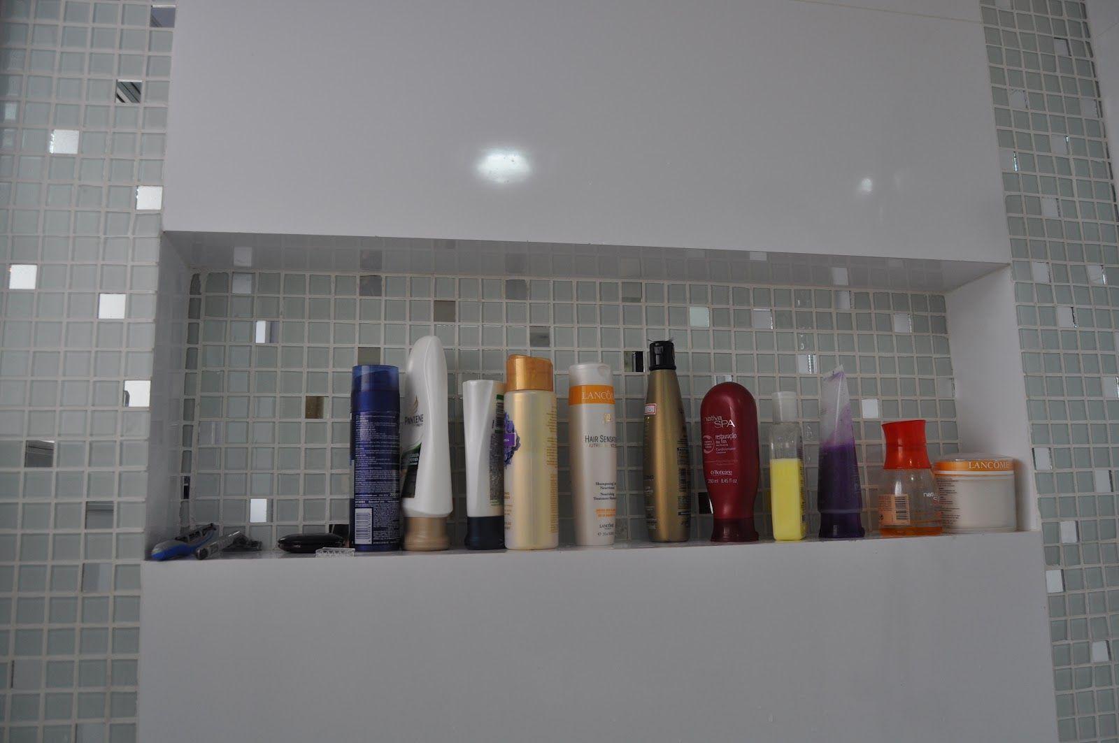 nicho para banheiro Banheiros Pinterest #673C30 1600 1063