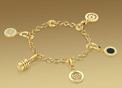 c0c73d136ad5d Bulgari: Bracelet in 18kt yellow gold, suitable for charm pendants ...