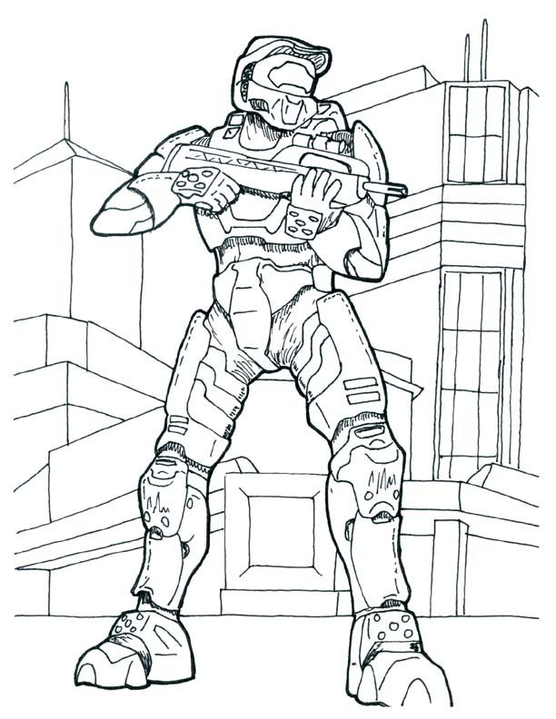 Printable Halo Coloring Pages For Kids All About Free
