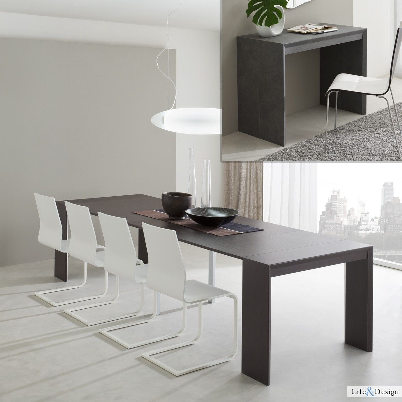 jack: tavolo consolle allungabile moderno zona living. | ld ... - Arredamento Moderno Zona Living