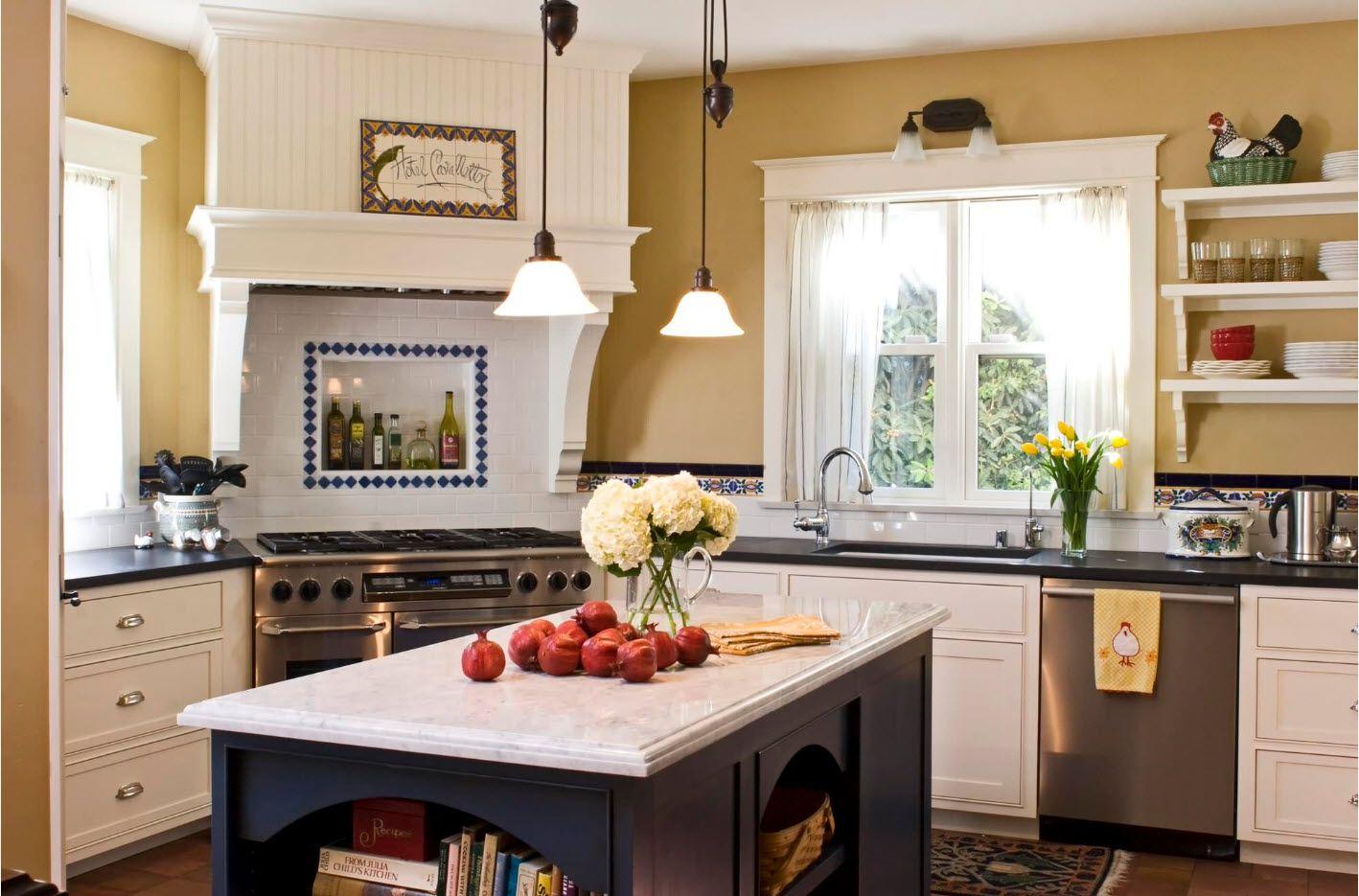 Встроенная плита и вытяжка | Викторианская кухня, Дизайн ...