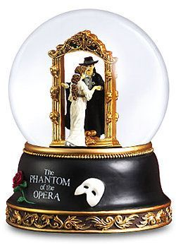 Phantom of the Opera Snow Globe Remember the first time you saw the world famous Phantom of the Opera on Broadway? Enjoy your memories over and over again with an official snow globe from the classic