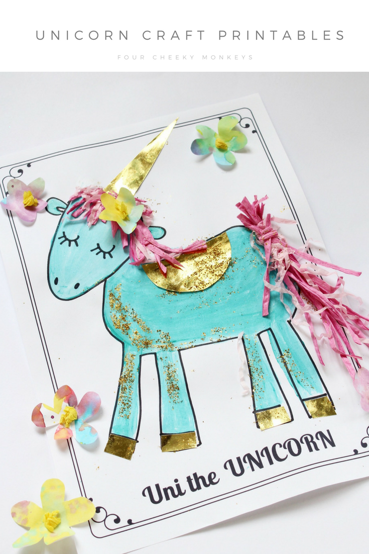 07d88b1835a6a Unicorn craft activity: flower crown and free printables | Daisy ...