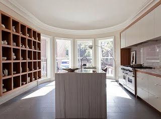 here's the storage in the context of a kitchen..so clean!!