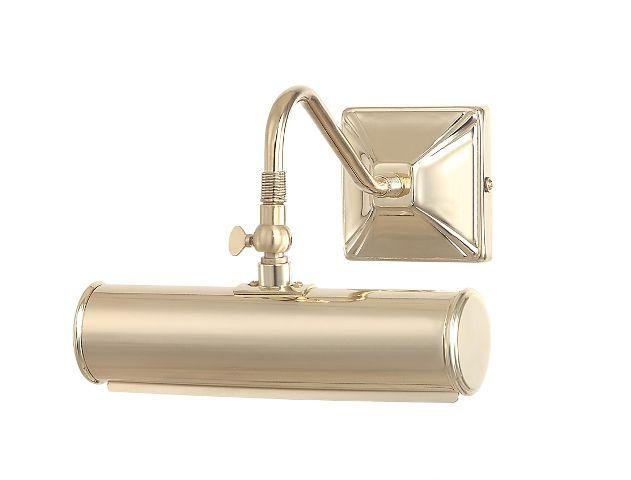 Picture Light 1Lt Small Polished Brass - Luke@e2lighting.co.uk
