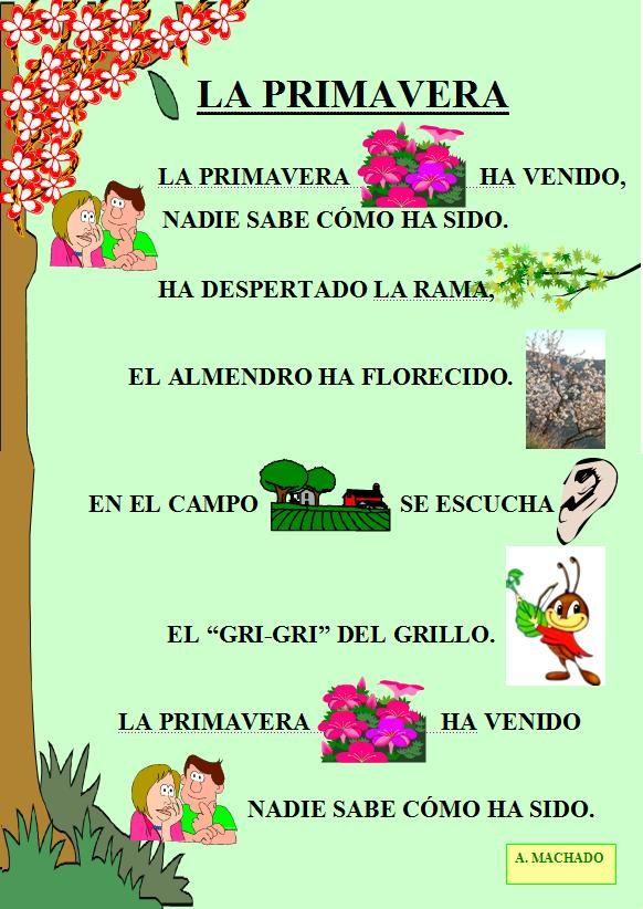 poemas cortos de la primavera   Eres el tiempo limpio   Spanish ...