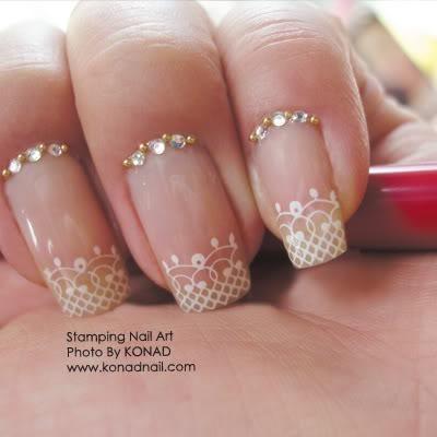 Diseños de novia de la boda de uñas Nail Art ♥
