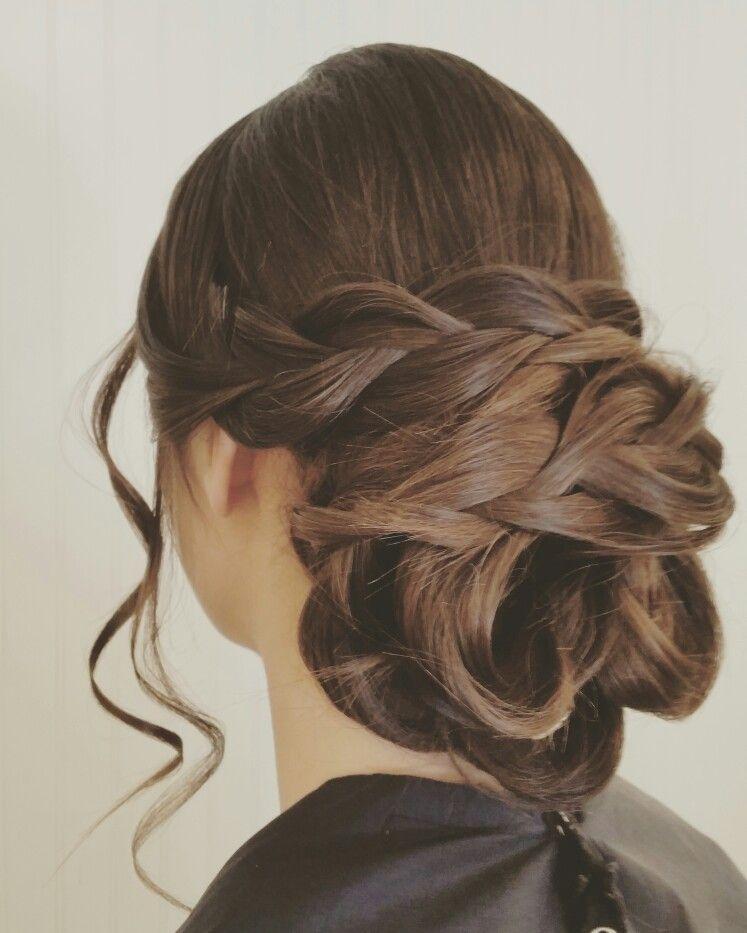 Braided Updo Wedding Hairstyles Big Low Bun Updo Bride Hair By
