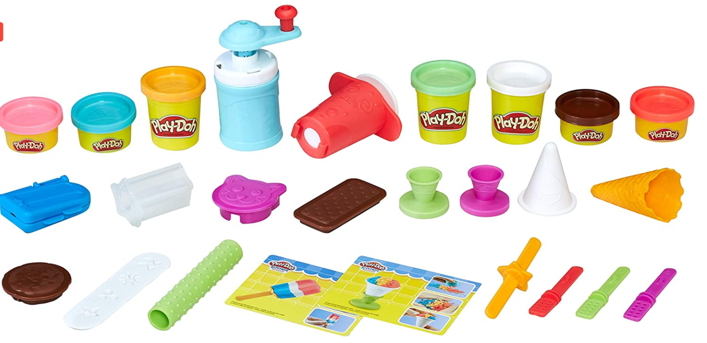 Play Doh Kitchen Creations Drizzy Ice Cream Playset Featuring Drizzle Compound 6 Non Toxic Colors In 2021 Play Doh Kitchen Ice Cream Playset Frozen Treats