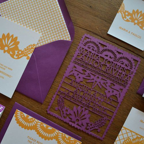 Laser cut invitations - how cool would a biz card be (on heavy, indestructible paper, of course.)
