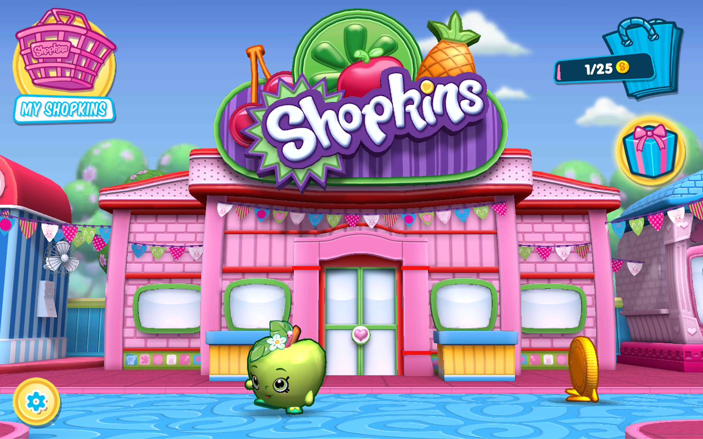 Explore Shopville And Play Mini Games With All Of Your Favorite Shopkins Including Apple Blossom