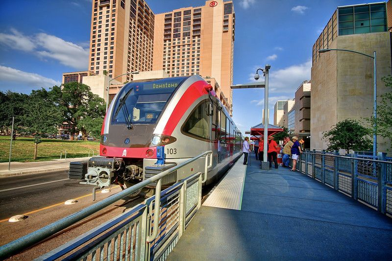 A nice way to get around the busy city... The Austin MetroRail