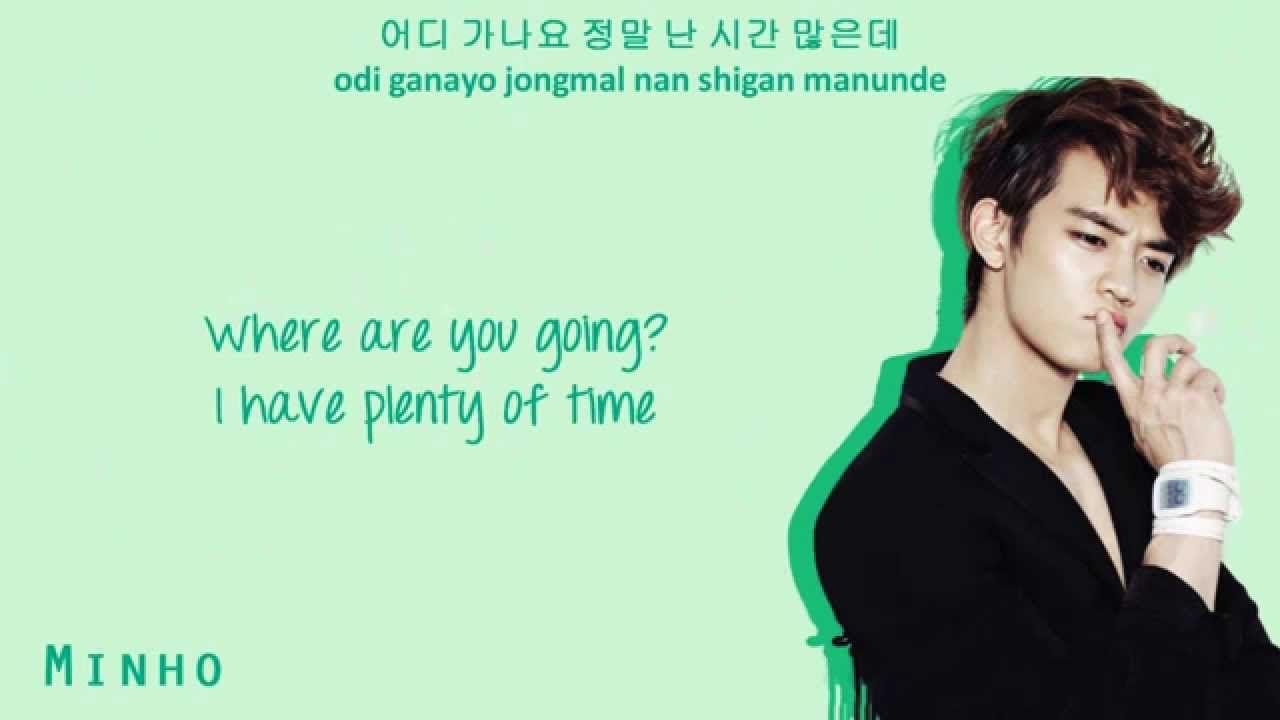 Shinee Woof Woof Color Coded Hangul Rom Eng Lyrics Shinee Zene