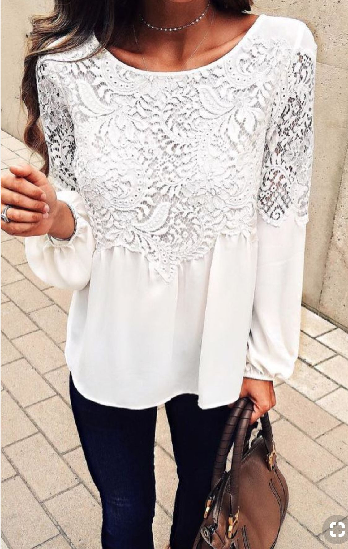 bec116e6ed68b0 white lace blouse | style | Fashion, Outfits, Style