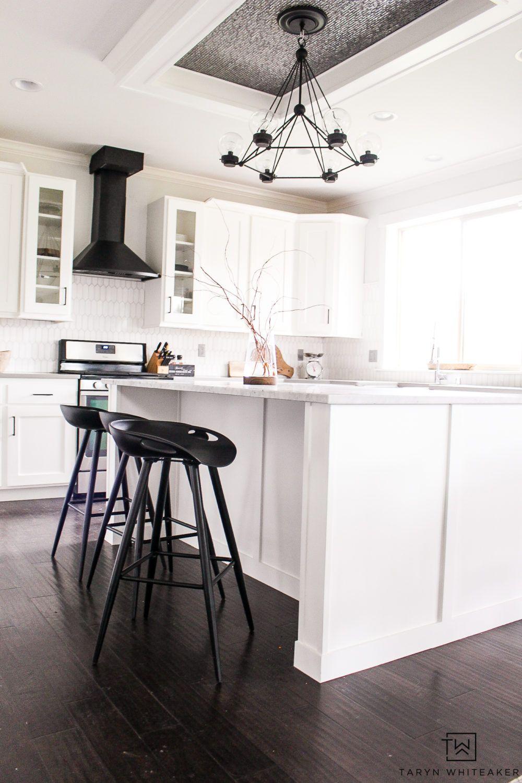 Black And White Modern Kitchen Reveal White Modern Kitchen