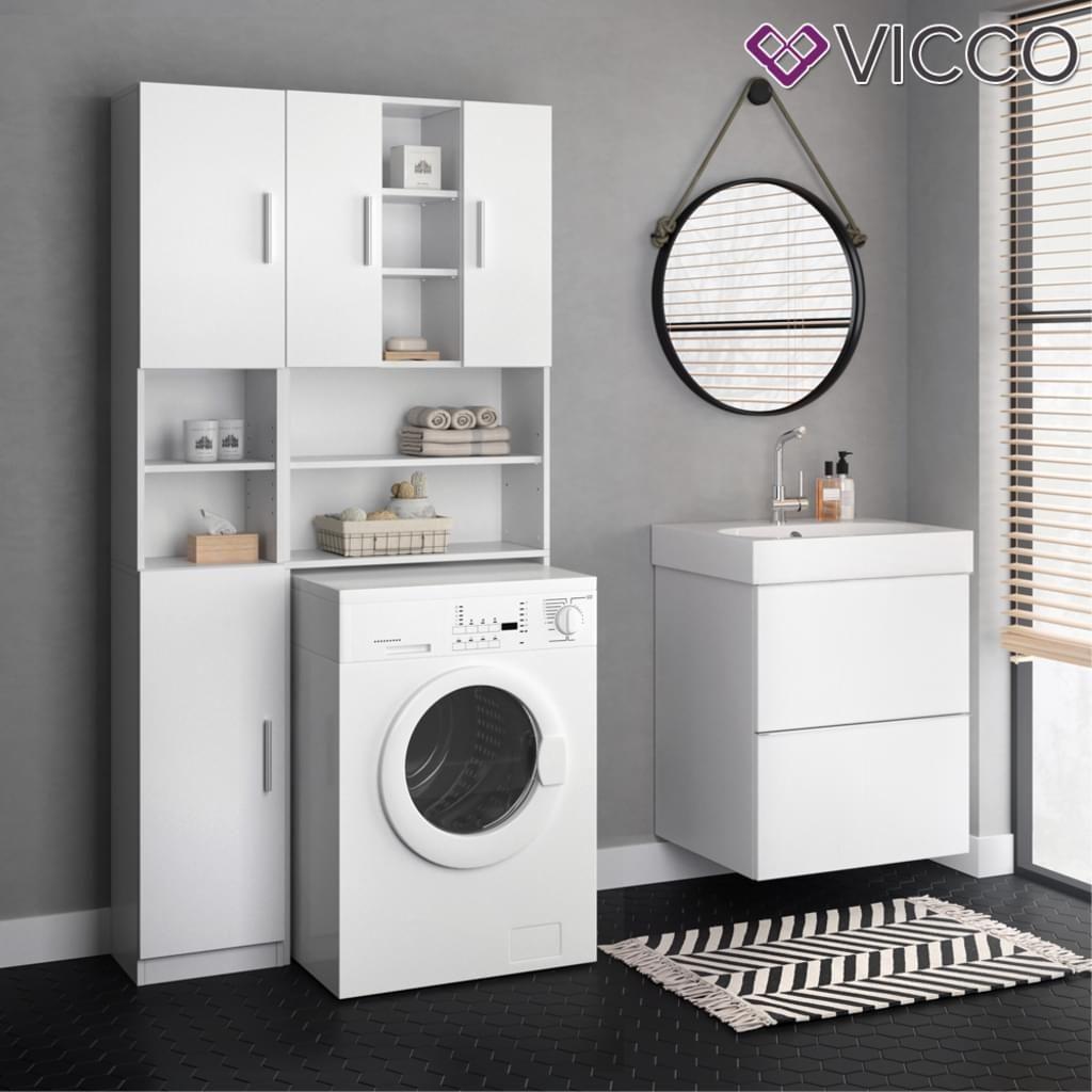 Vicco Anstellschrank Luis Badmobel Badschrank Hochschrank Badschrank Badezimmer Schrank Wasche