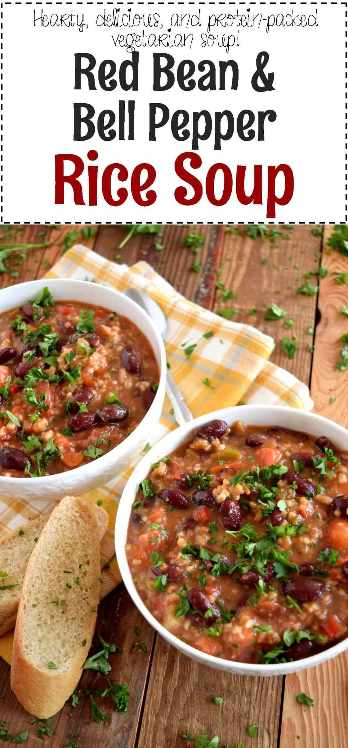 Red Bean and Bell Pepper Rice Soup - Lord Byron's Kitchen