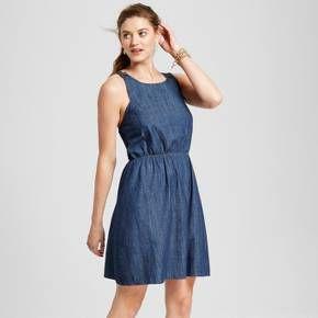 Women's Denim Apron Dress Dark Indigo - Merona™ : Target