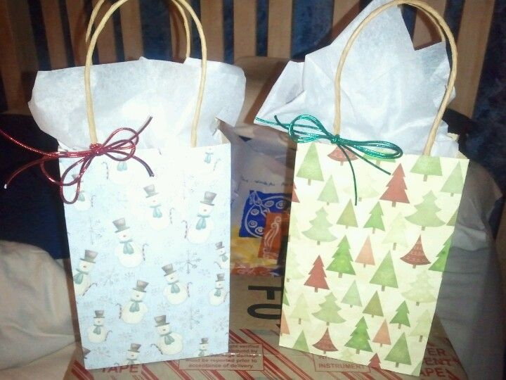 Christmas Gift Bags Made With Sbook Paper Plain Brown
