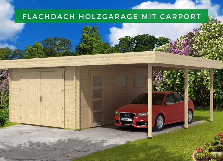 Flachdach Holzgarage Mit Carport 44 Iso Holzgarage Mit Carport 44 Iso Holzgarage Flachdach Garage Mit Carport