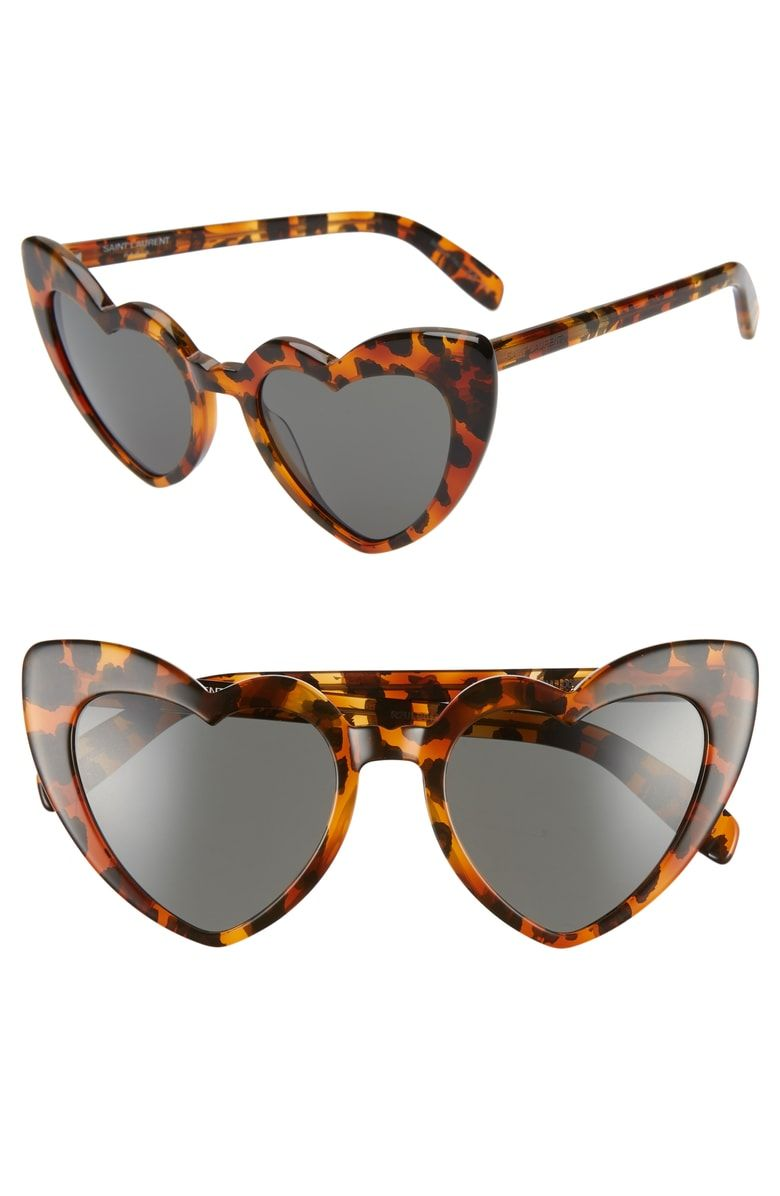 167739e62d219 Free shipping and returns on Saint Laurent Loulou 54mm Heart Sunglasses at  Nordstrom.com. You ll fall hard for Italian sunglasses that feature a  playfully ...