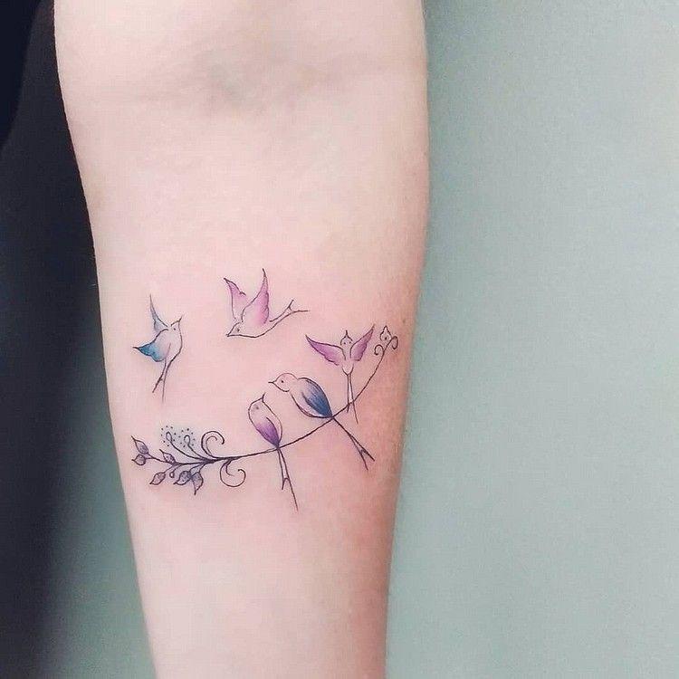 Mutter-Kind Symbol-Tattoo