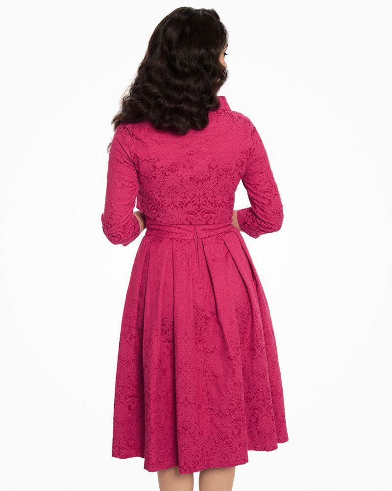 317a268fd44 Marianne Raspberry Swing Dress and Jacket Twin Set