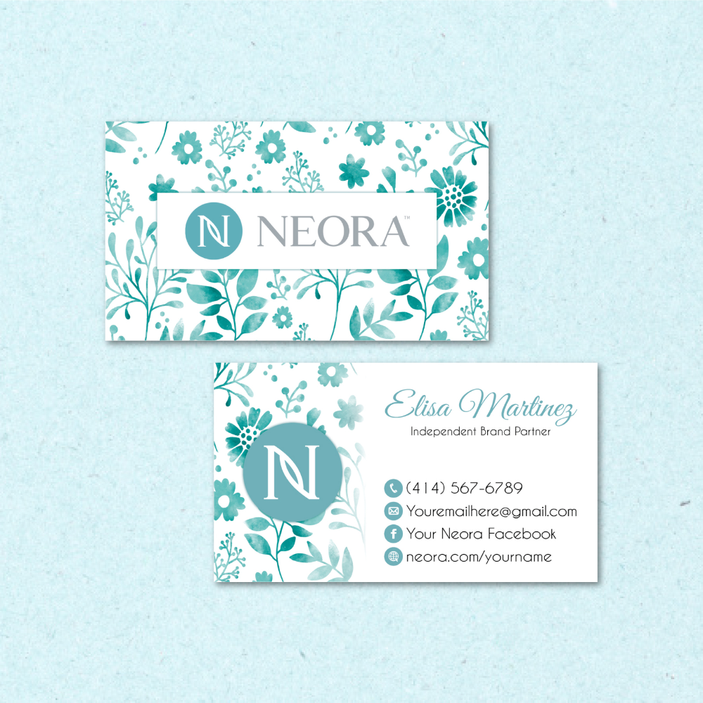 Neora Business Card Neora Custom Neora Business Cards Neora Card Ne06 In 2020 Personal Cards Business Card Size Cards