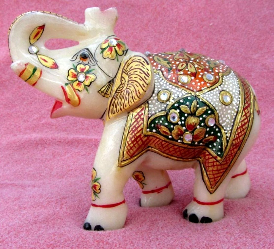 Handmade Marble Elephant Pair For Your Home Buy Now With