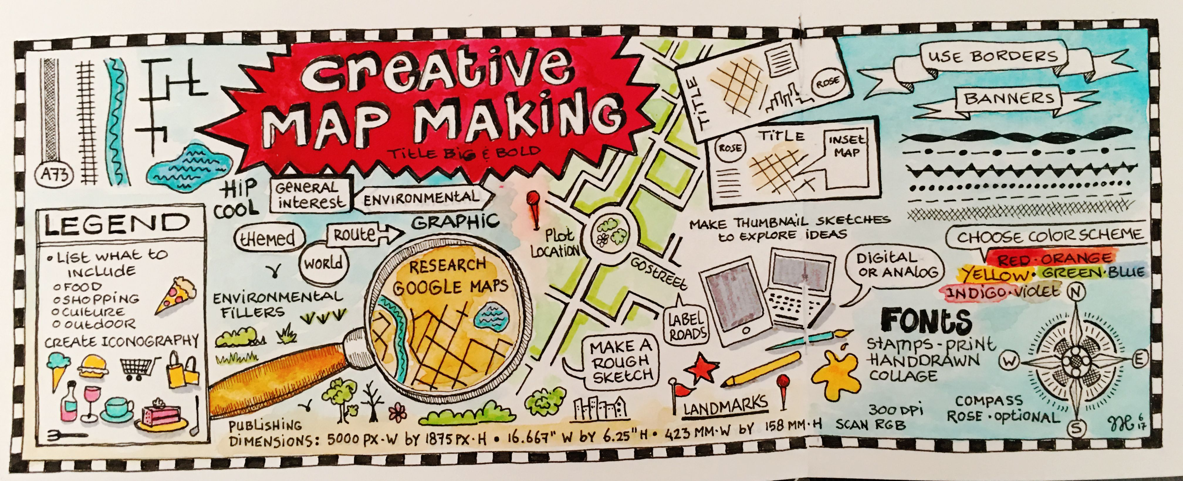 My own map on making creative maps inspired by a klass from