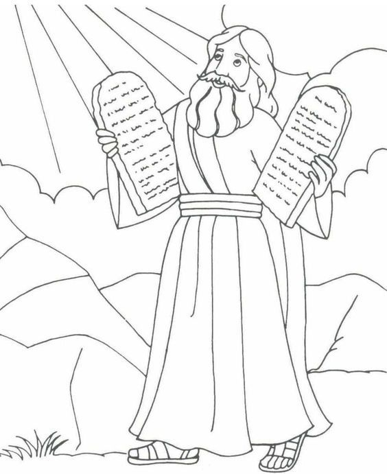 Moses Holding The Stone Tablets Of The 10 Commandments Exodus 20