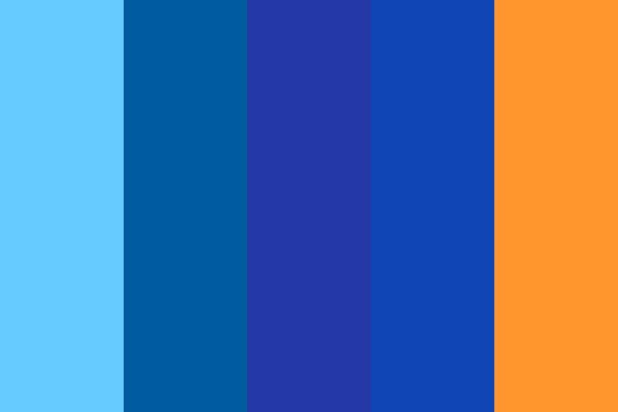 Blue Scale Color Palette In 2020 Blue Color Schemes Blue Colour Palette Color Palette