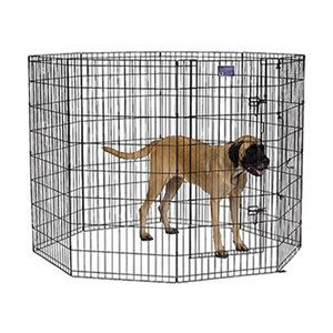 Midwest Homes For Pets Exercise Pen With Door In Black Finish