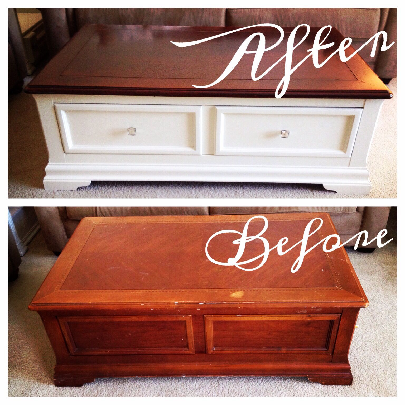 Refinished coffee table For the Home Pinterest