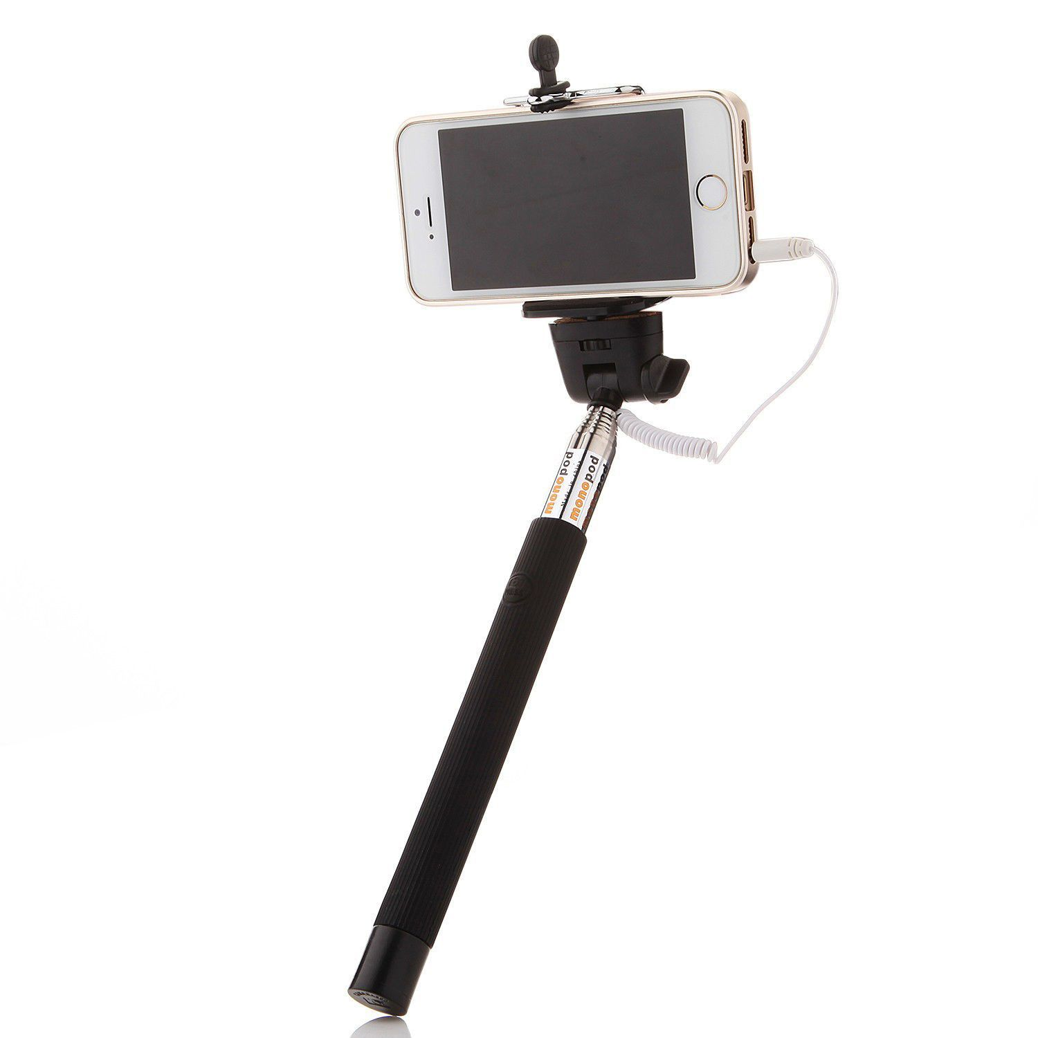 Black 35mm Extendable Selfie Wired Stick Phone Holder Remote Cell Headphone Jack Wiring This Is New Design Monopodjust Simply Connect The Can Be Usedvery Easy