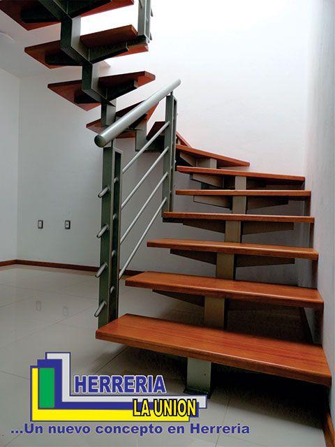 Mod madera tancitaro escaleras pinterest for Fotos de escaleras de herreria