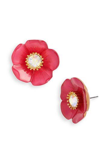Poppy earrings!