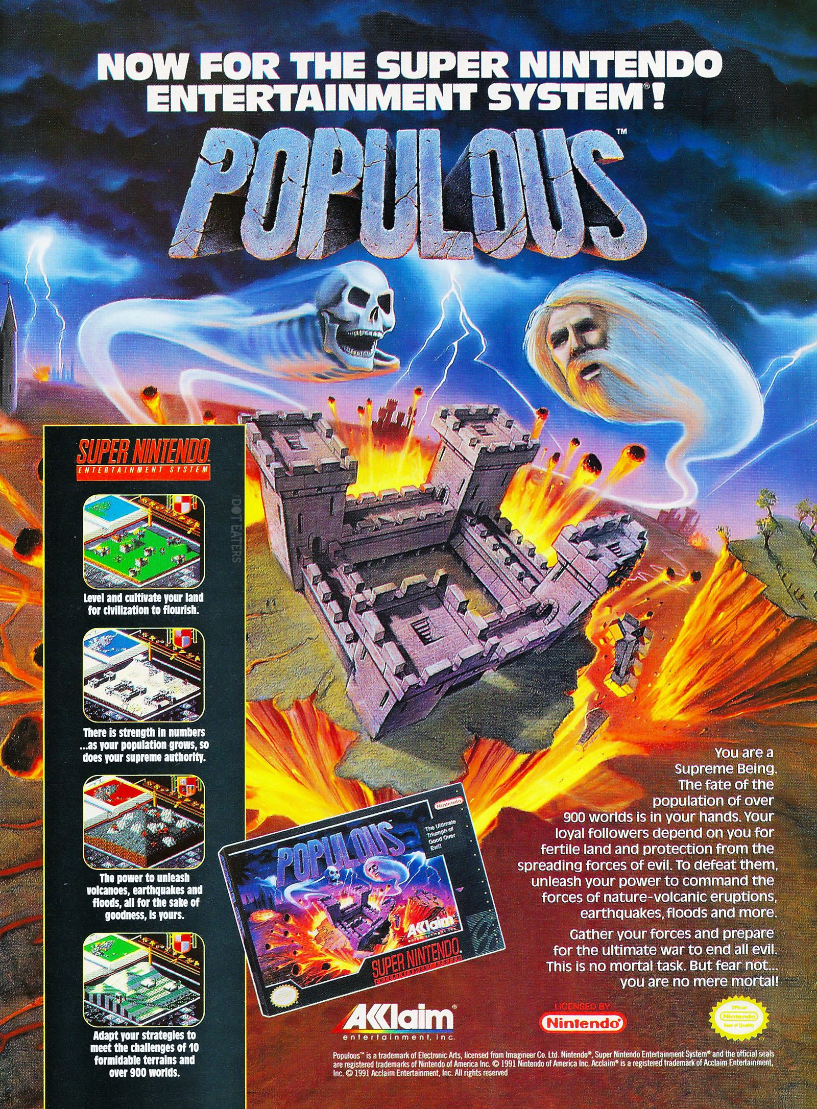 Populous Snes Retro Games Poster Retro Gaming Art Retro Gaming