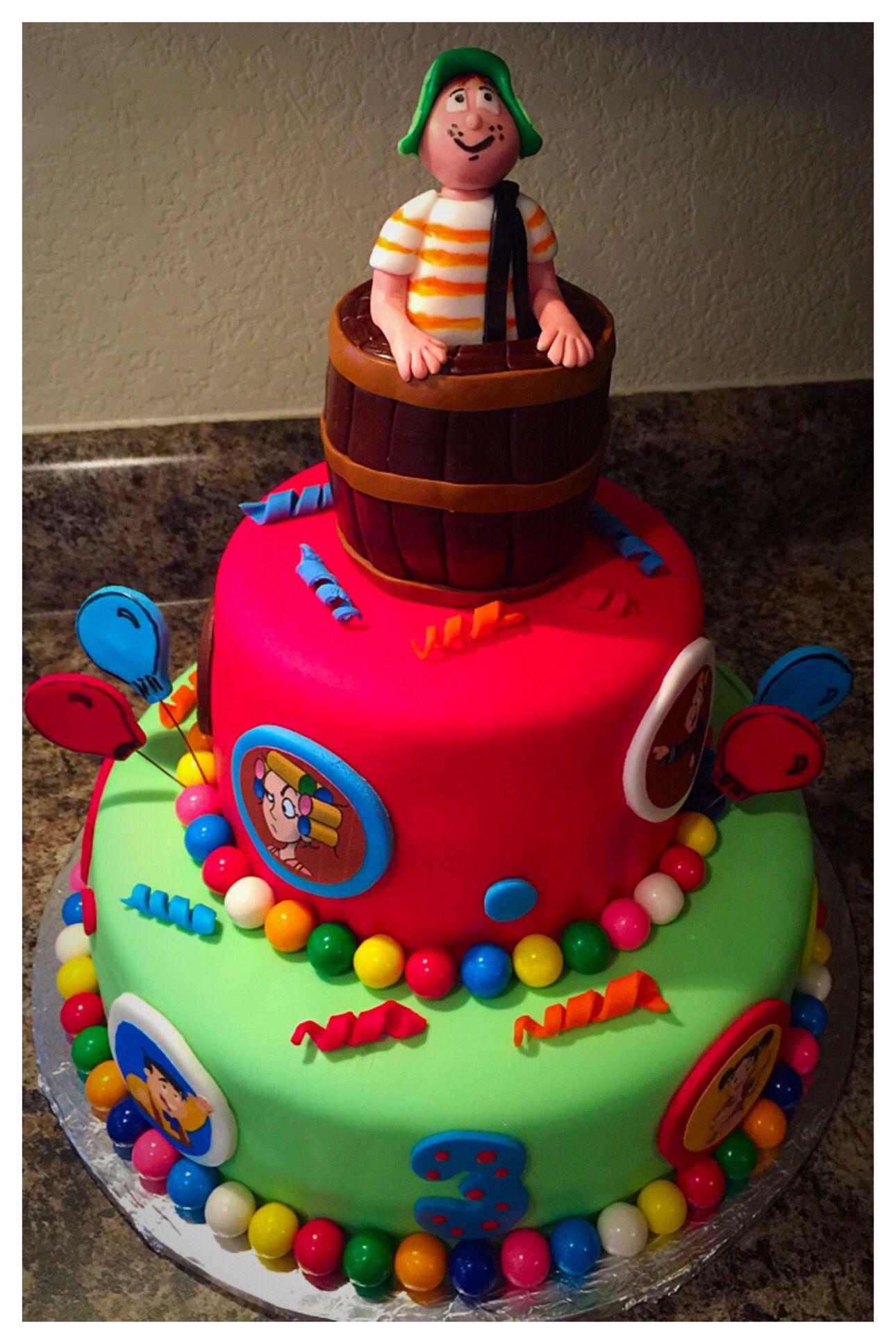 Fondant Cake El Chavo Del 8 Www Celebrationbakery Com Www Facebook Com Gocelebrationbakery