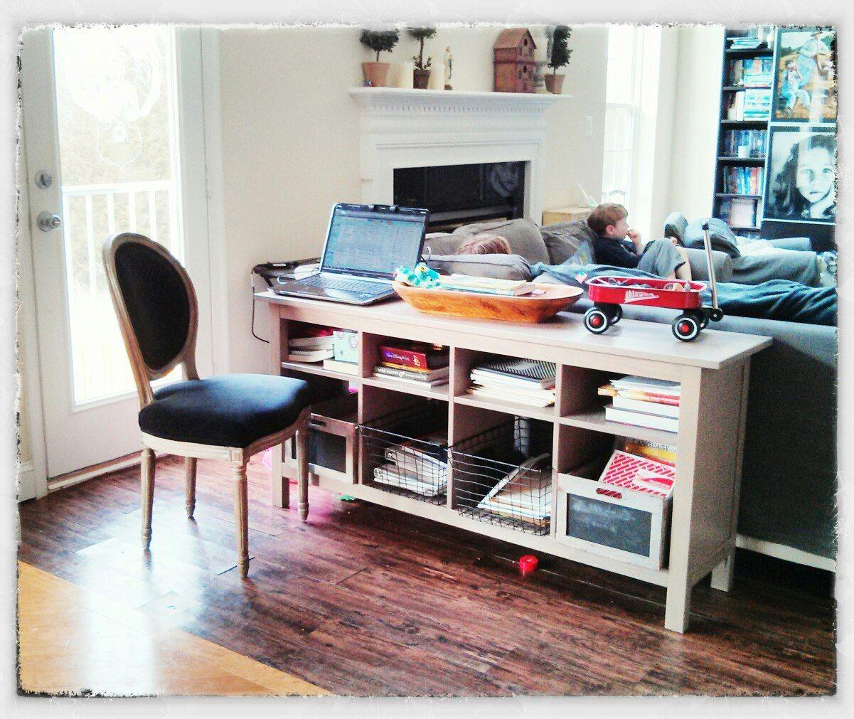 Ikea Hemnes Sofa Table. Behind Sofa Storage/homeschool Organization/kitchen  Buffet/desk