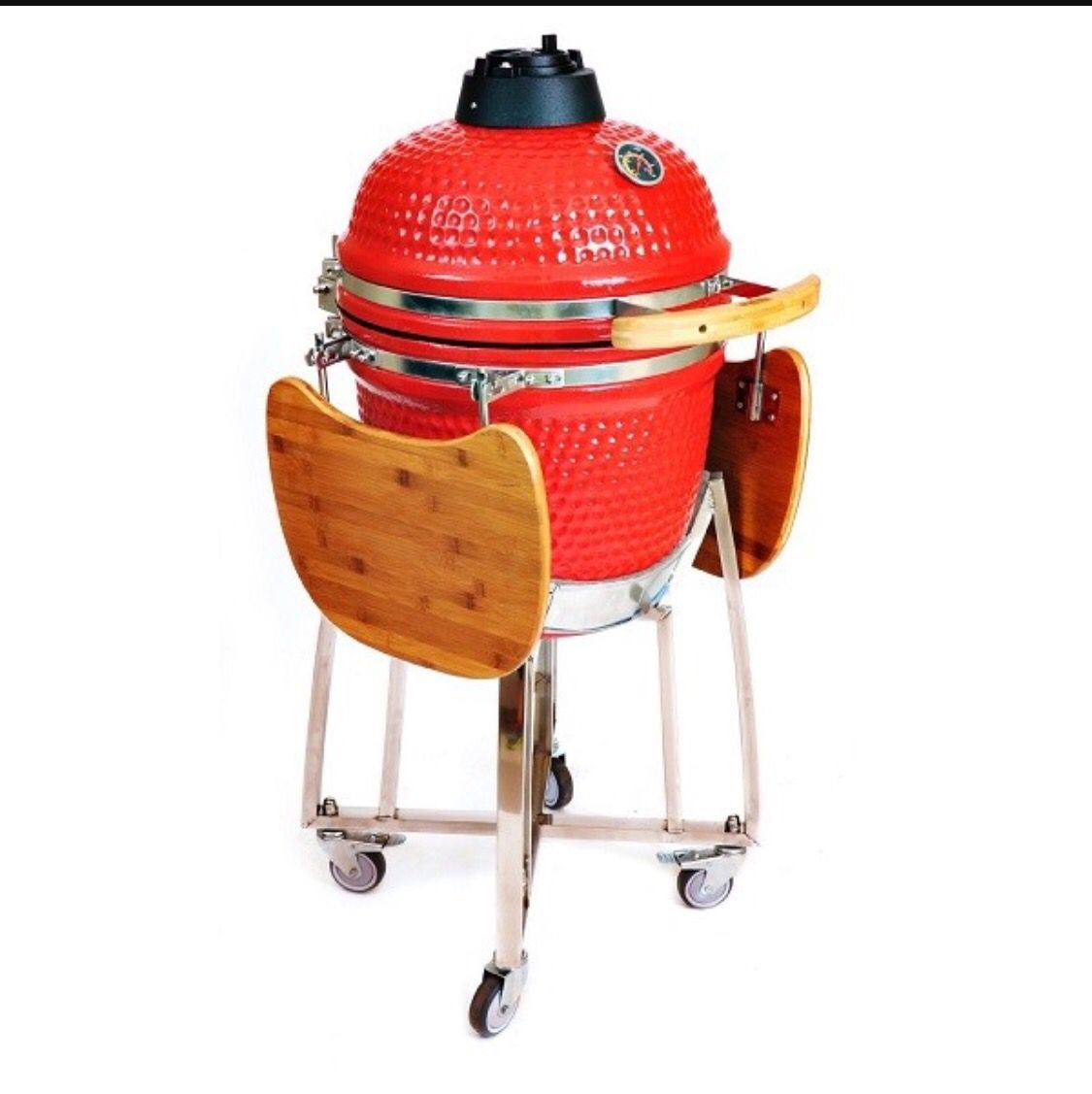 Signal Red smoker never use your cooker again Ceramic