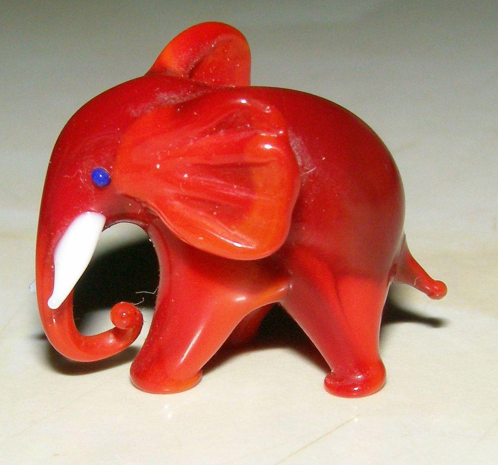 The Best Rare Little Vintage Murano Glass Animal Deep Red Milk Elephant Murano Glass Animals Glass Animals Glass Elephants