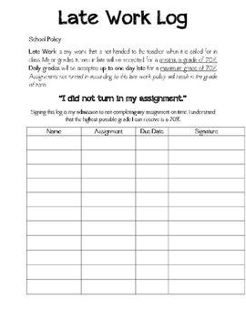 Late Work Log | Teaching 5th grade, First year teaching ...