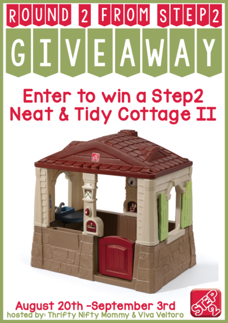 Step2 Neat & Tidy Cottage II Group Giveaway 09/03 - Gator Mommy Reviews #step2 #playhouse #children #toy #giveaway