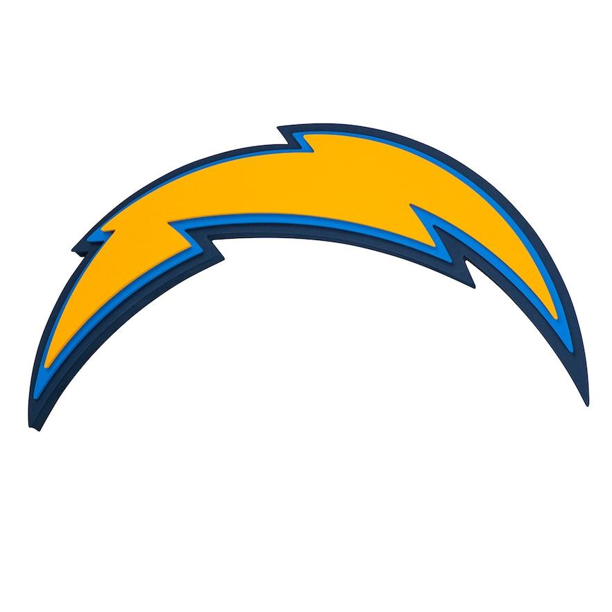 Los Angeles Chargers 3d Fan Foam Logo Sign Los Angeles Chargers Logo Nfl Teams Logos San Diego Chargers Logo
