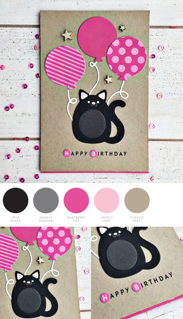 Capture The Moment More April Release Day 4 Cat Birthday Card Cards Handmade Papertrey Ink Cards