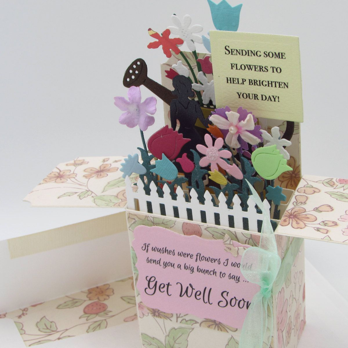 Explosion Box Card Get Well Card In A Box Card For Special